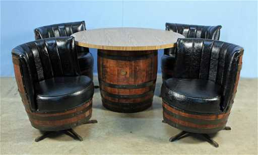 Jack Daniels Whiskey Barrel Table Amp 4 Chairs