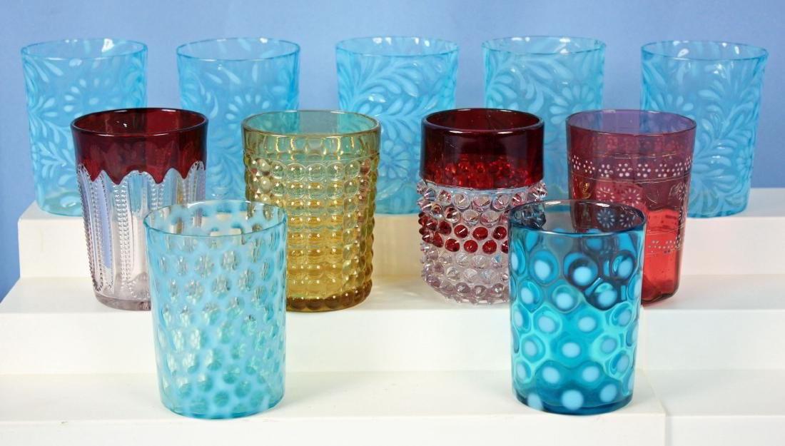 11 Tumblers in Assorted Colors and Patterns