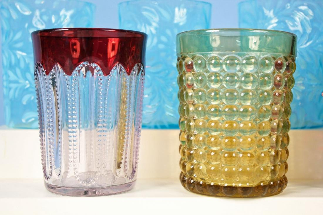 11 Tumblers in Assorted Colors and Patterns - 4