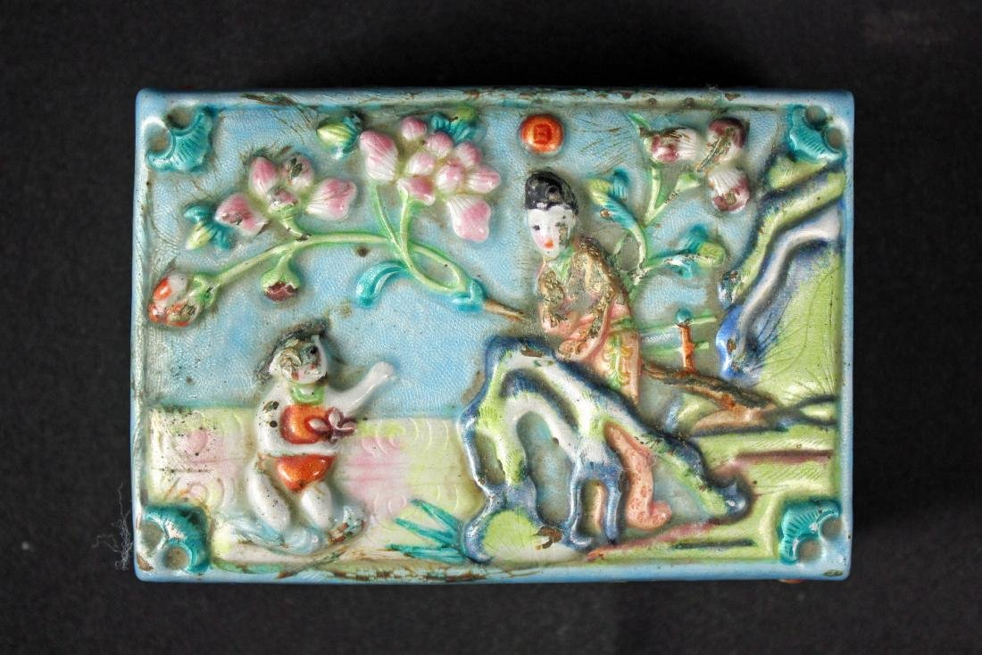 Chinese Cinnabar Lacquer Box and Enamel Box - 2