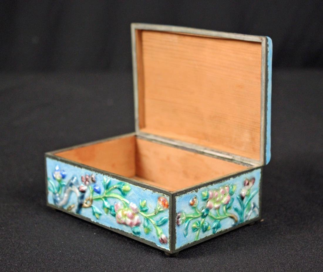 Chinese Cinnabar Lacquer Box and Enamel Box - 3