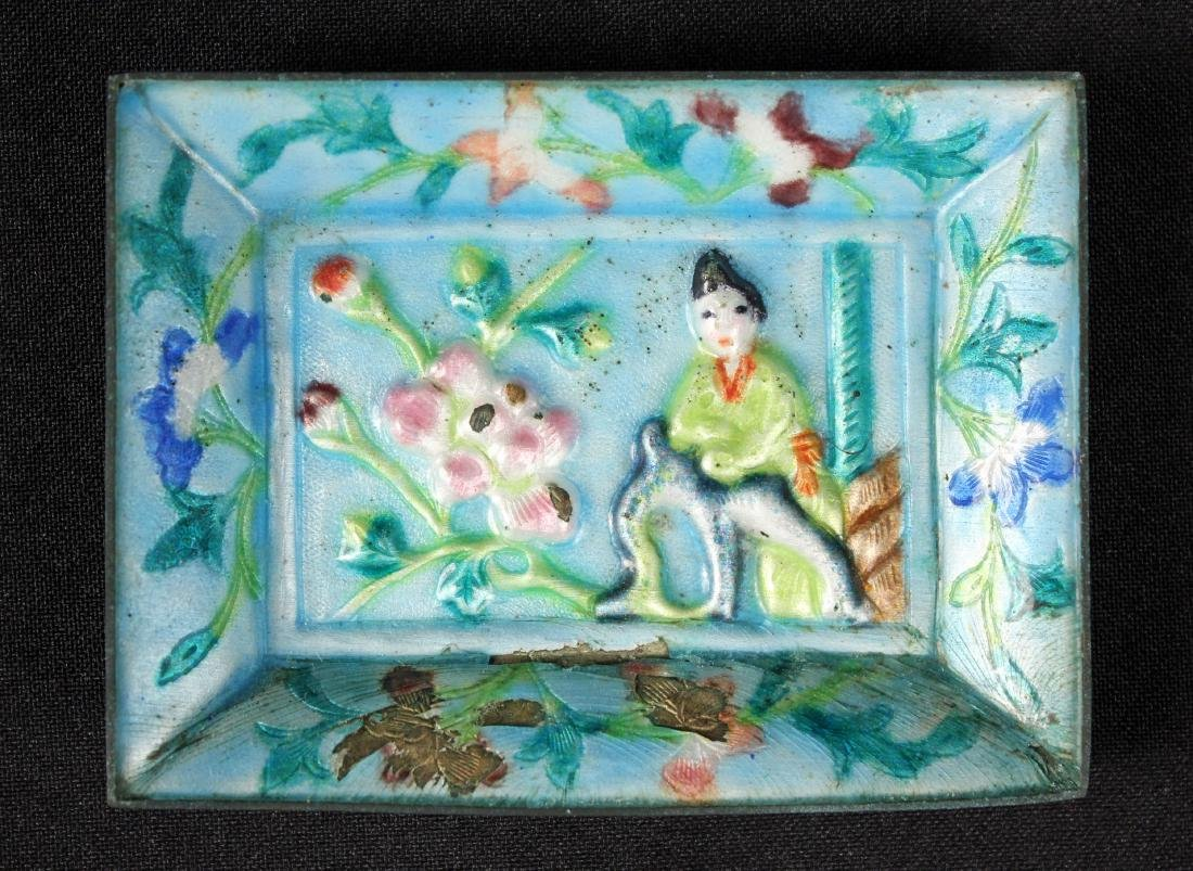 Chinese Cinnabar Lacquer Box and Enamel Box - 5
