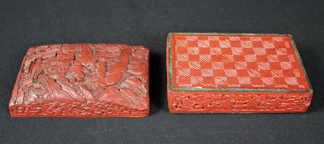 Chinese Cinnabar Lacquer Box and Enamel Box - 8