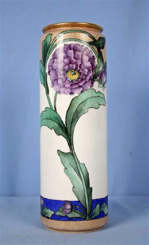 Willets American Belleek Hand Painted 12 Vase