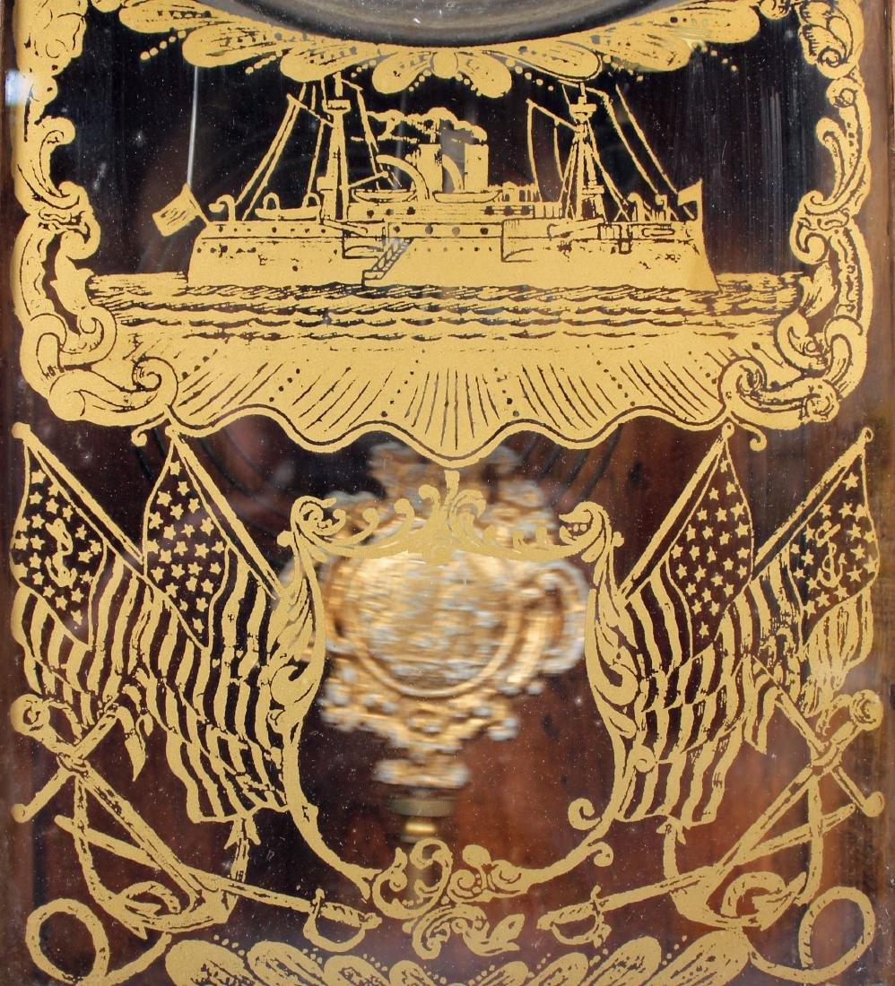 Ingraham Old Dominion Oak Clock w/ Capital Dome - 3