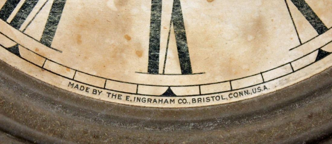 Ingraham Old Dominion Oak Clock w/ Capital Dome - 4