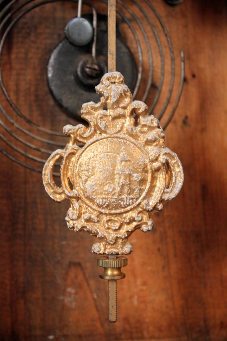 Ingraham Old Dominion Oak Clock w/ Capital Dome - 5