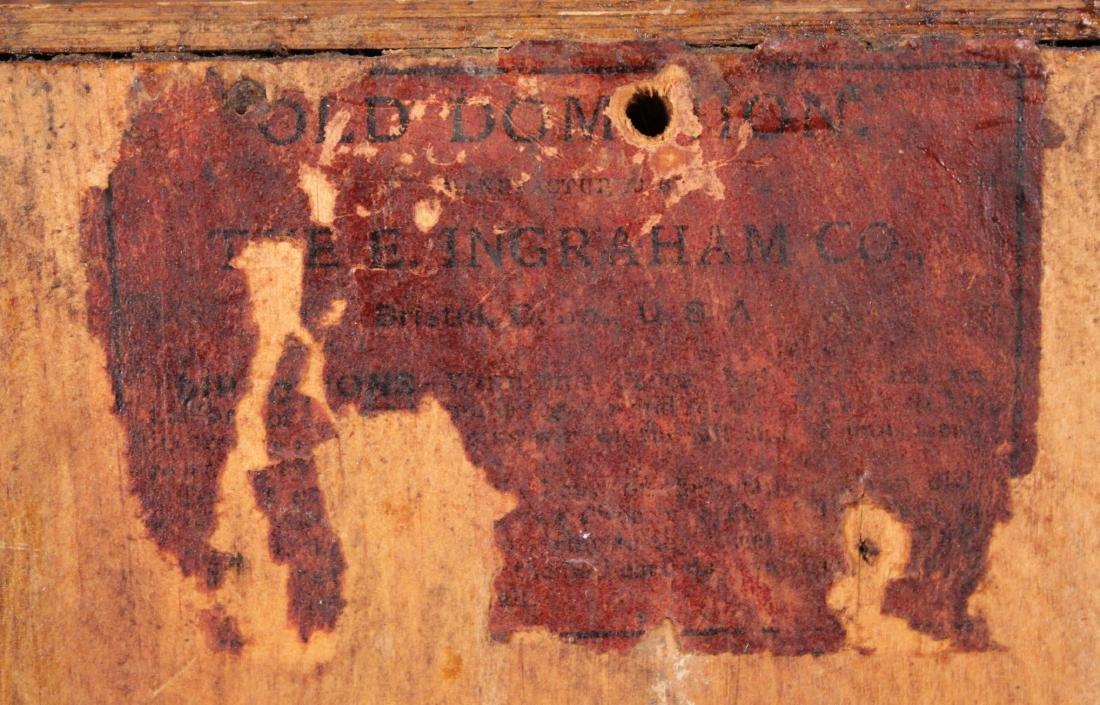 Ingraham Old Dominion Oak Clock w/ Capital Dome - 7