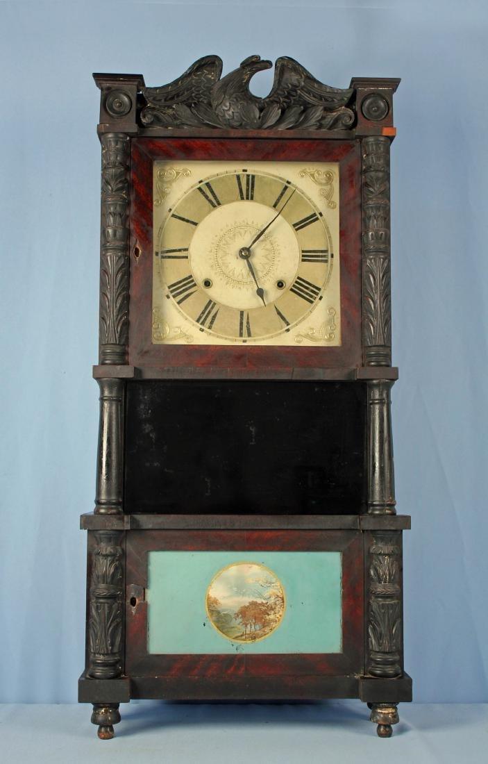 C & L Ives Bristol, Ct. Triple Decker Shelf Clock