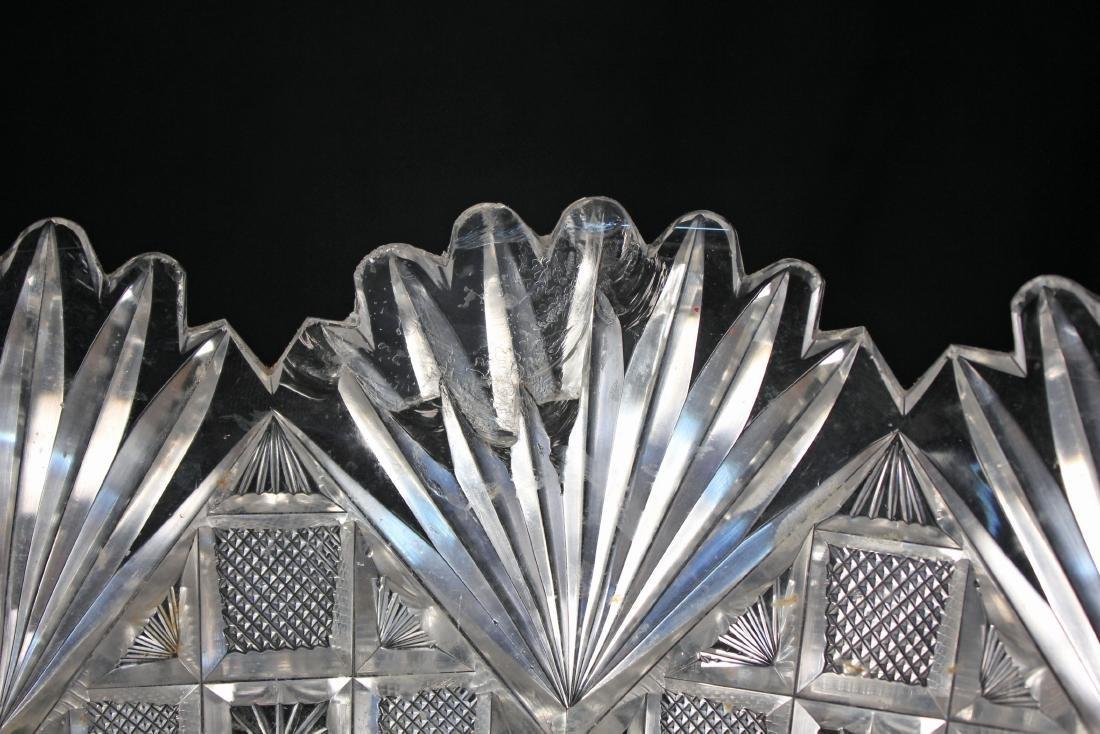 Beautiful Large Cut Glass 15.5 Inch Punch Bowl - 5