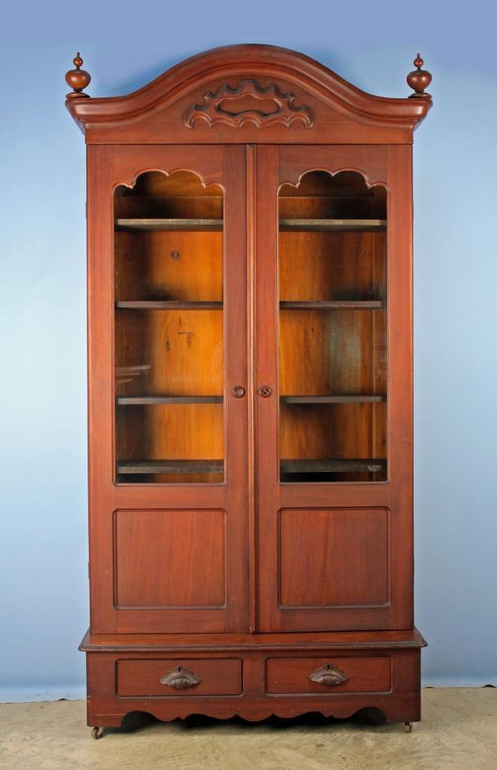 Two Door Mid 19th Century Walnut Bookcase