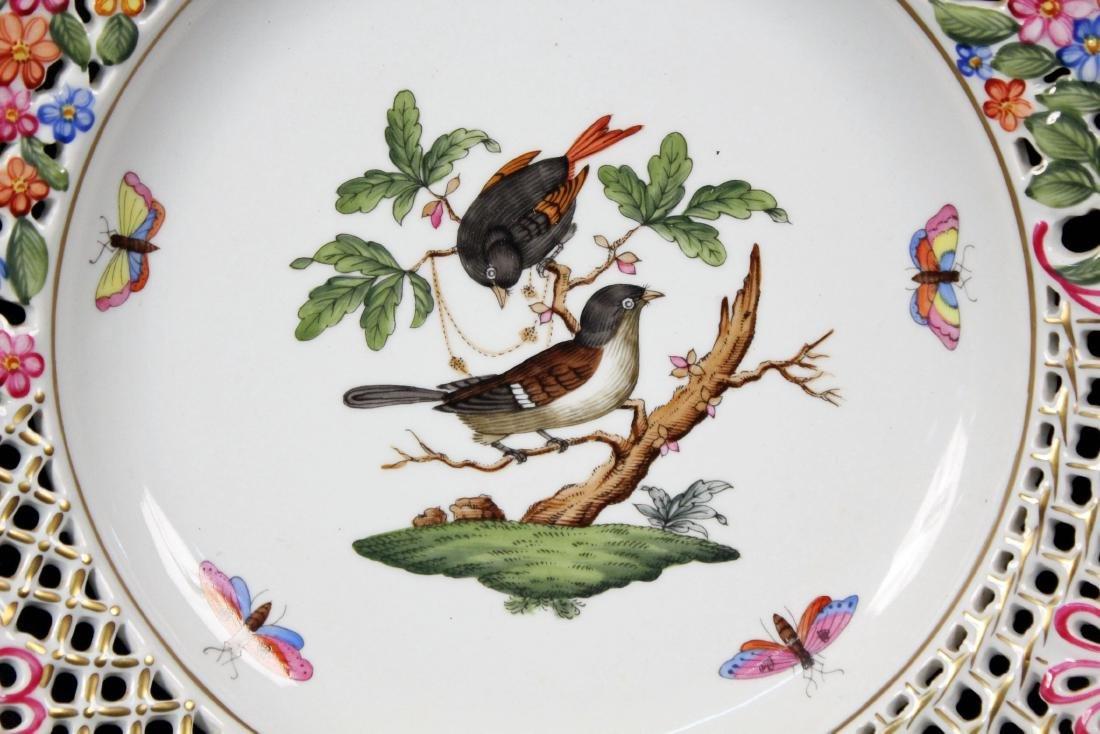 Herend Rothschild (RO) 8434 Reticulated Bird Plate - 2