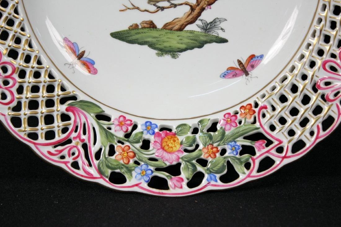Herend Rothschild (RO) 8434 Reticulated Bird Plate - 3