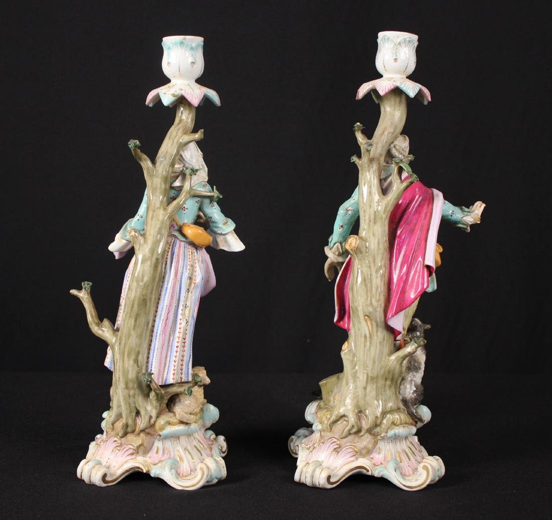 Pr. of 19th Century Meissen Figural Candle Holders - 2