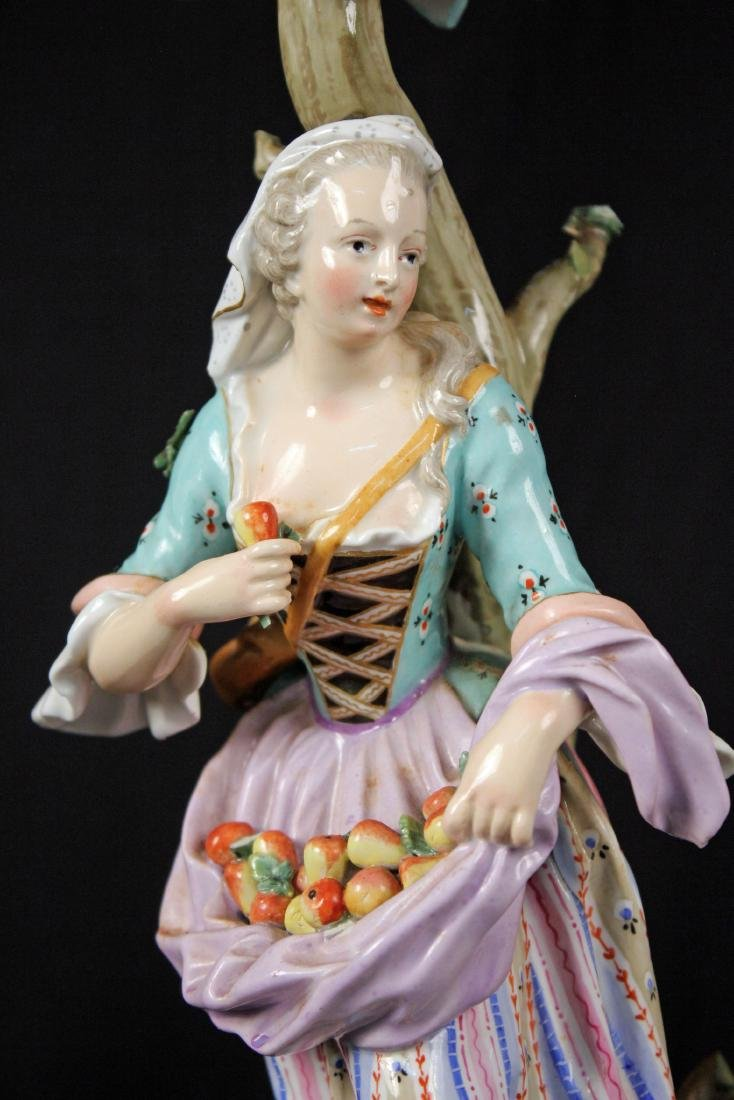 Pr. of 19th Century Meissen Figural Candle Holders - 3