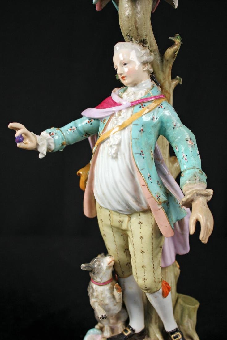 Pr. of 19th Century Meissen Figural Candle Holders - 6