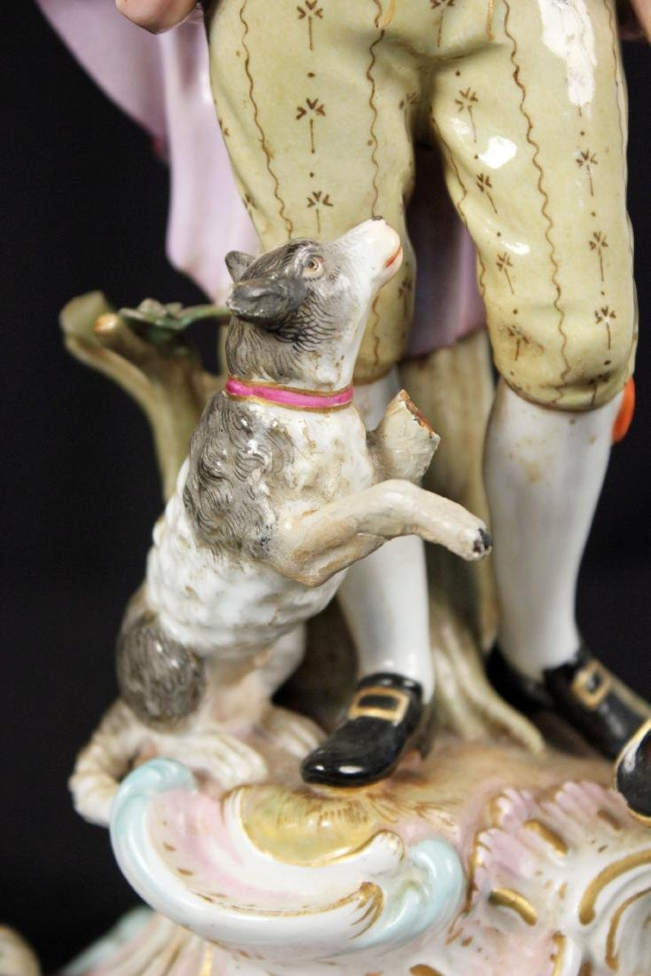 Pr. of 19th Century Meissen Figural Candle Holders - 7