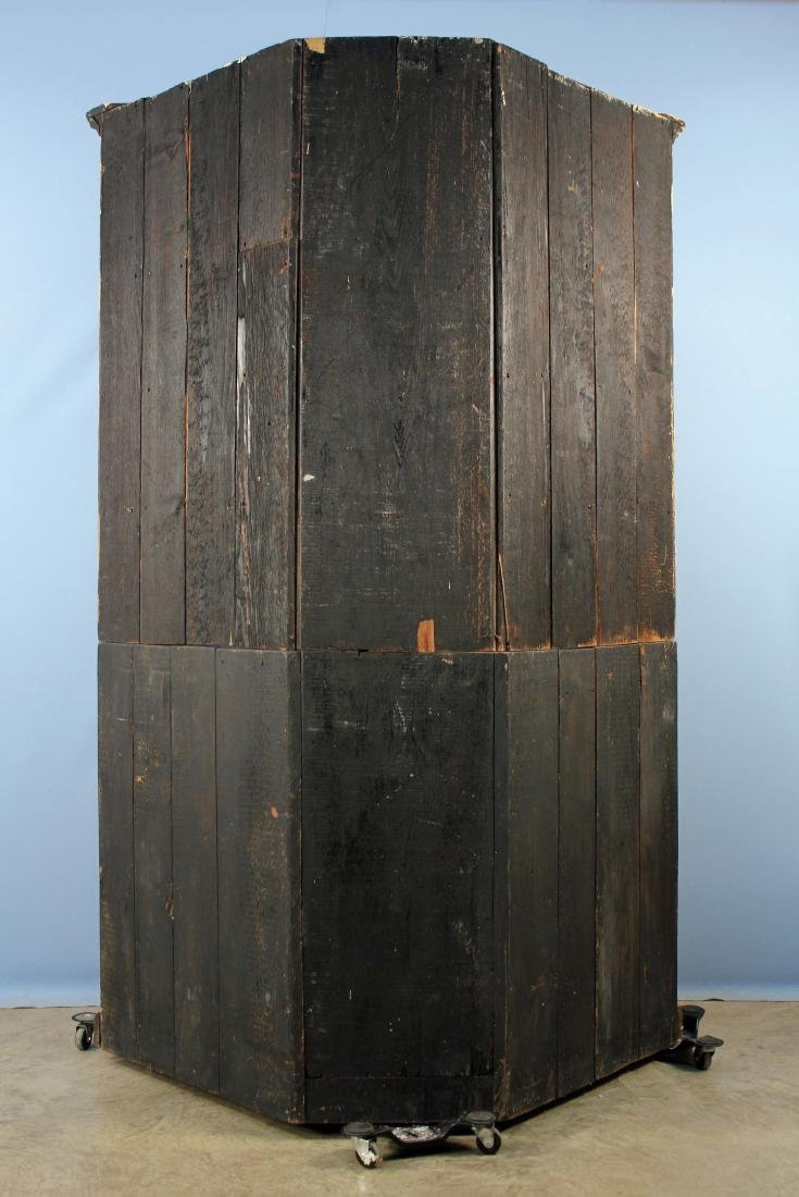 19th C. Two Part Corner Cabinet w/ Glazed Doors - 6