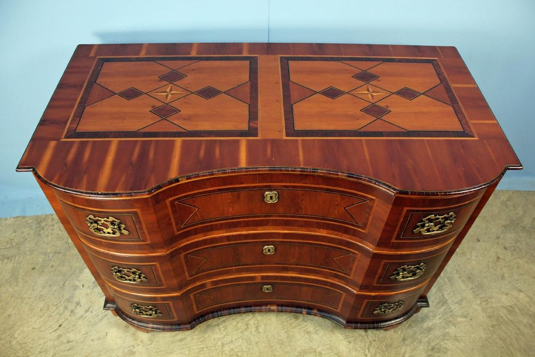 Alfonso Marina Baviera Three Drawer Inlaid Chest - 4
