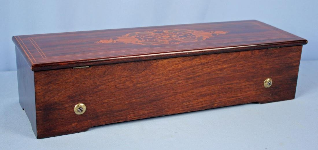 Langdorff Rosewood Swiss Cylinder Music Box - 10