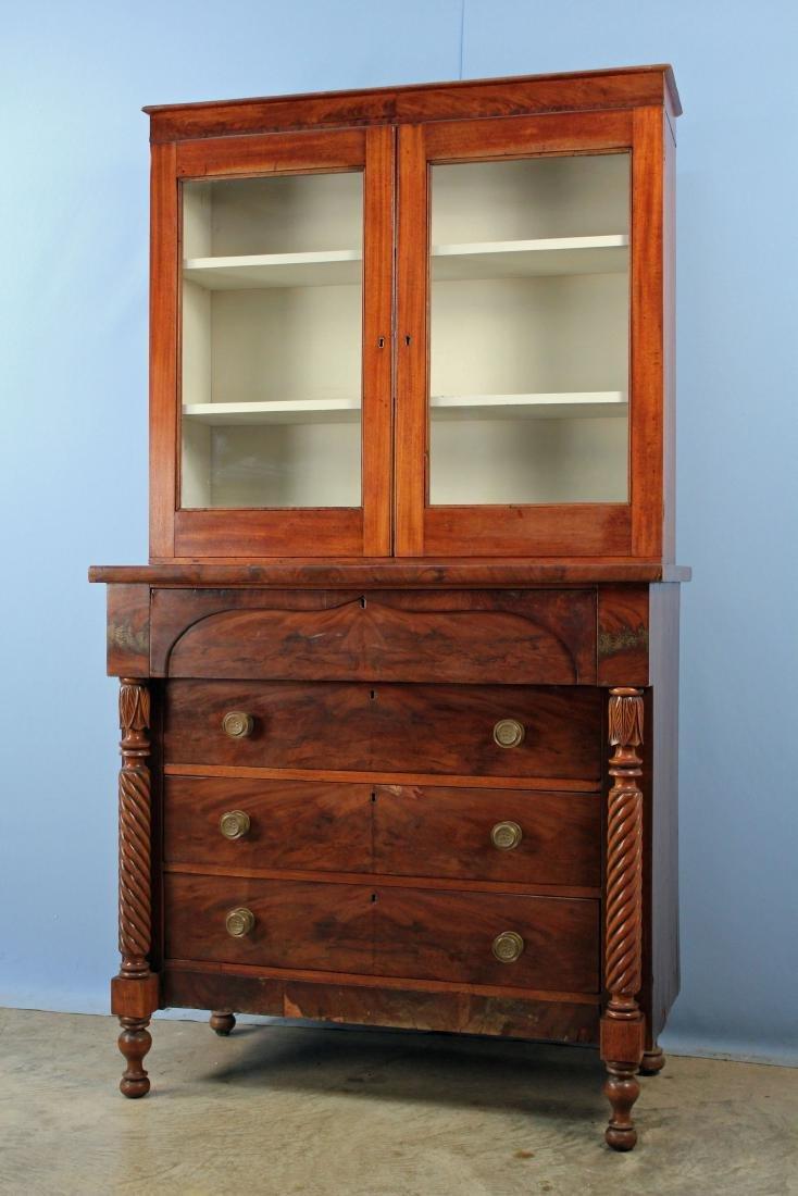 Circa 1835 Federal Mahogany Stepback Cupboard