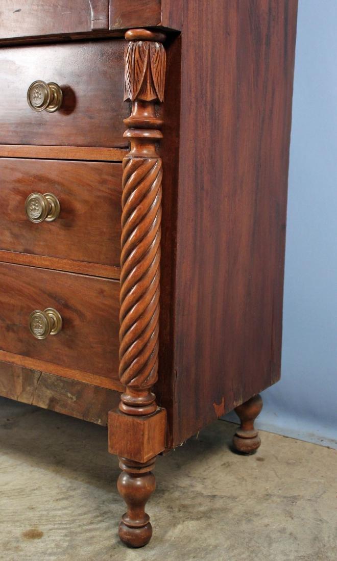 Circa 1835 Federal Mahogany Stepback Cupboard - 3