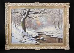 Neogrady, Laszlo 1896 - 1962 Forrest Winter Scene