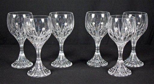 3ee38e6693b Six Baccarat, Massena Pattern Crystal Wine Glasses
