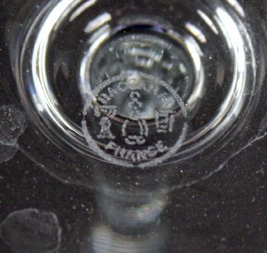 9 Baccarat Capri Optic Champagne Toasting Flutes - 3