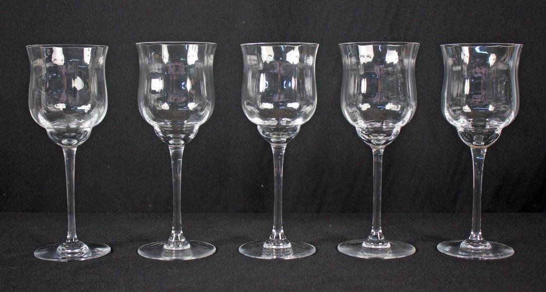 "5 Baccarat Capri (Tall Optic) 9 1/8"" Water Goblets"
