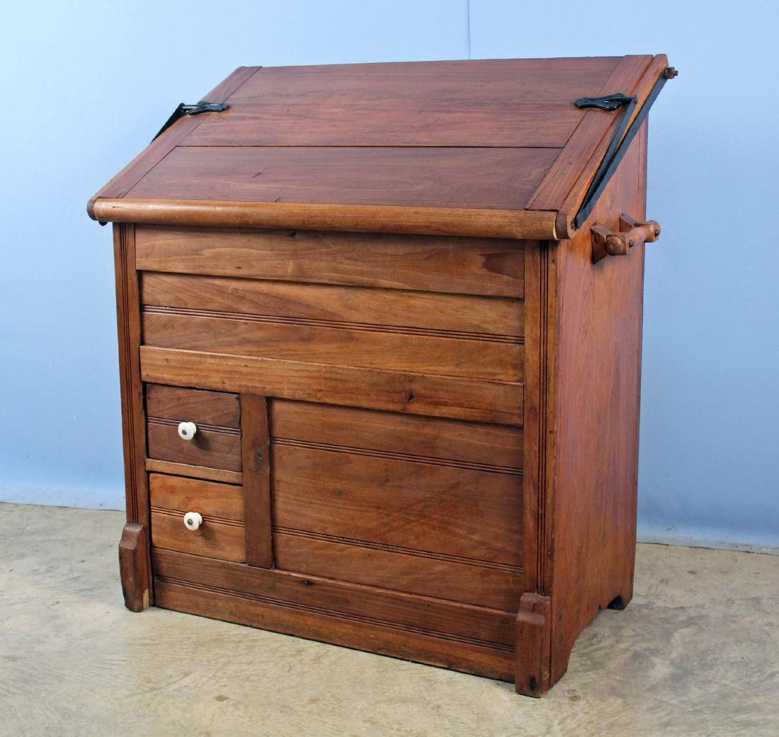 19th Century Meal and Flour Bin w/ Fold-Out Board