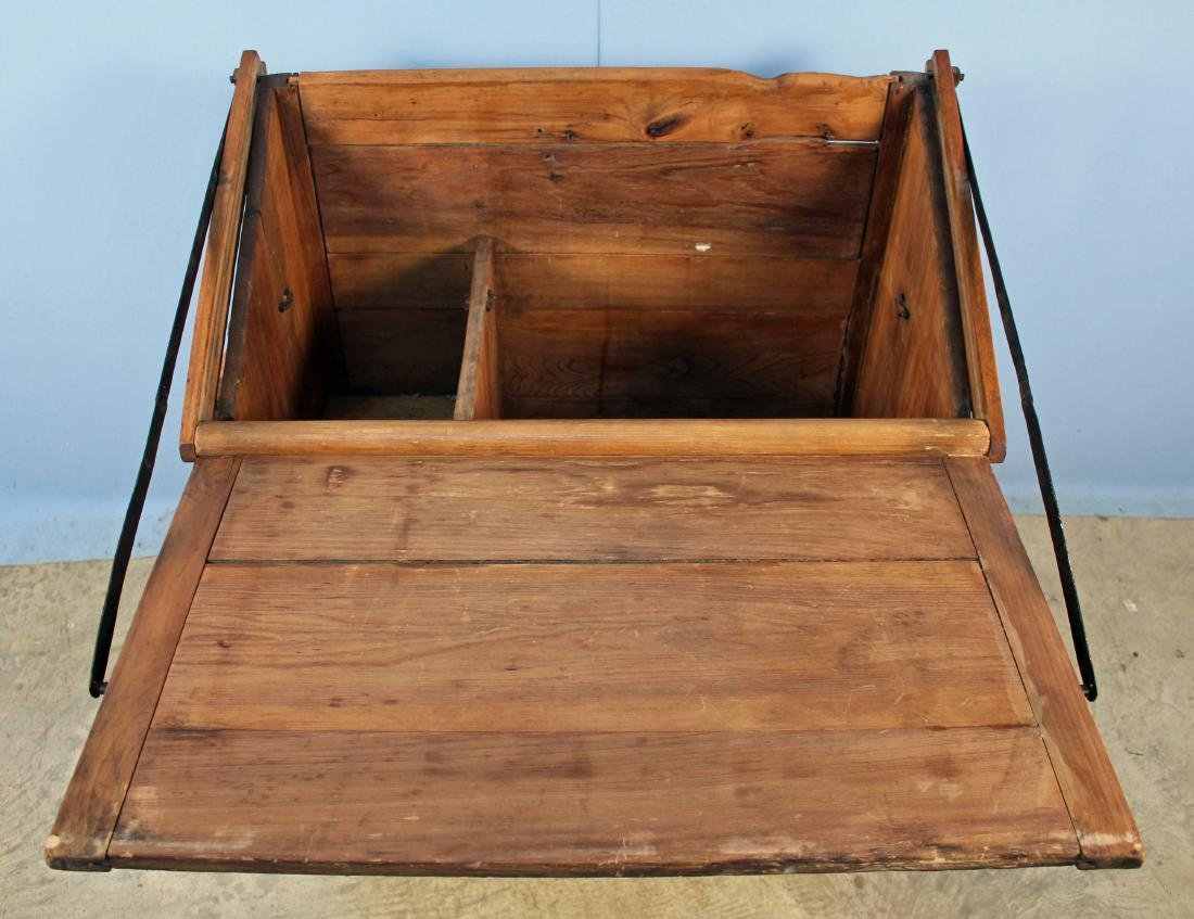 19th Century Meal and Flour Bin w/ Fold-Out Board - 2