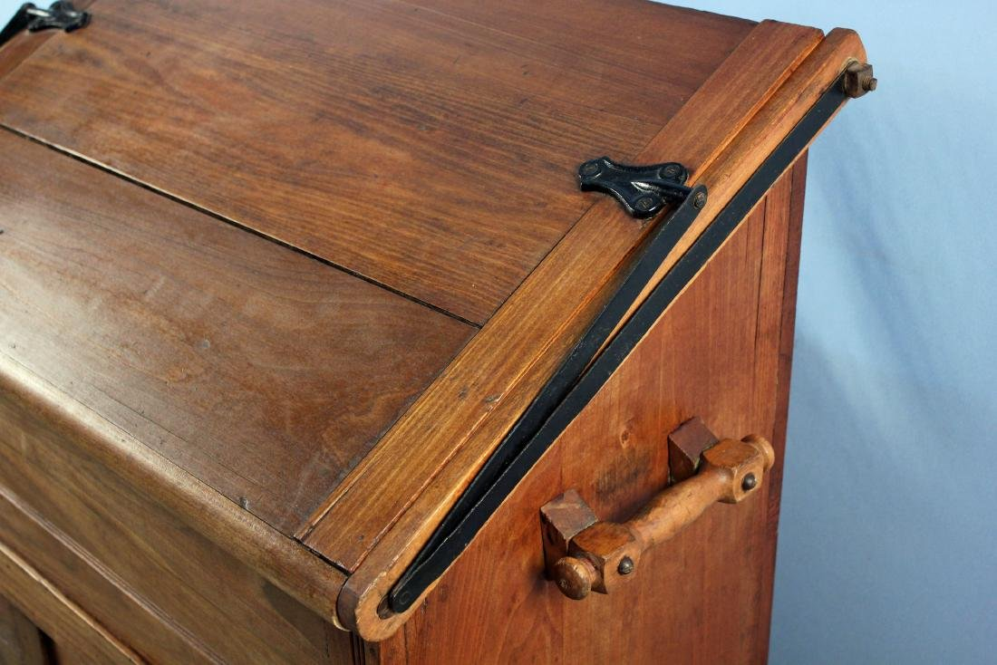 19th Century Meal and Flour Bin w/ Fold-Out Board - 4