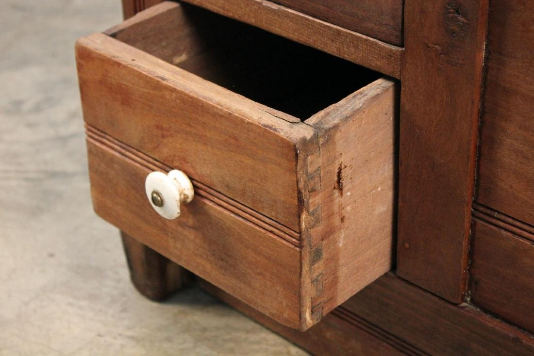 19th Century Meal and Flour Bin w/ Fold-Out Board - 5