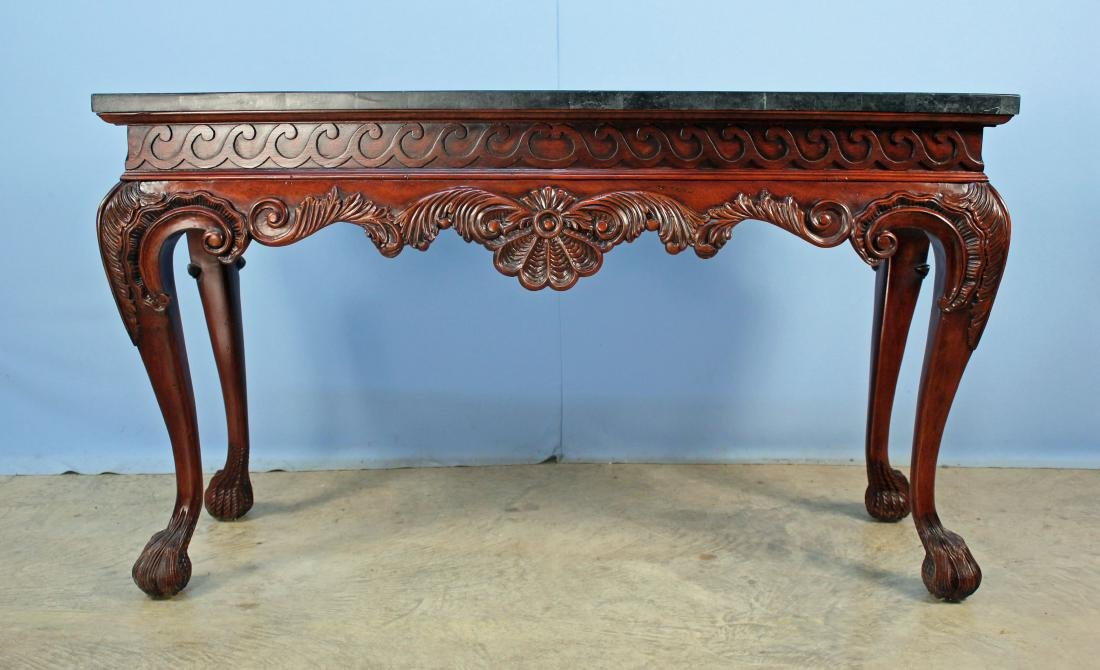 Maitland Smith Style Marble Top Console Table - 2