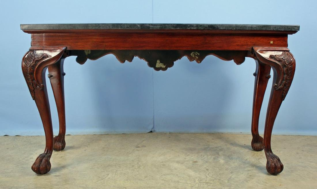 Maitland Smith Style Marble Top Console Table - 6