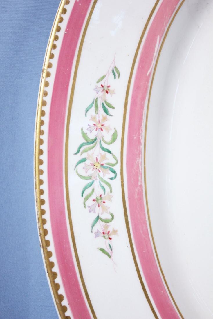 Large19th C. French Old Paris Platter Pink & Gilt - 2