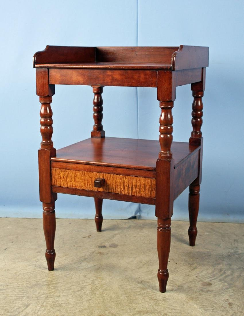 Mid 1800's Cherry Washstand with Maple Drawer