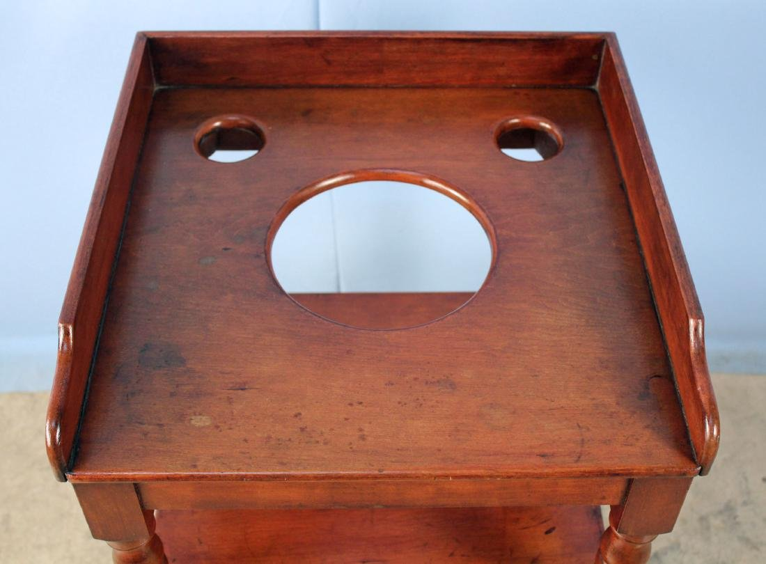 Mid 1800's Cherry Washstand with Maple Drawer - 2