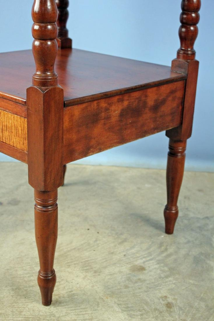Mid 1800's Cherry Washstand with Maple Drawer - 4