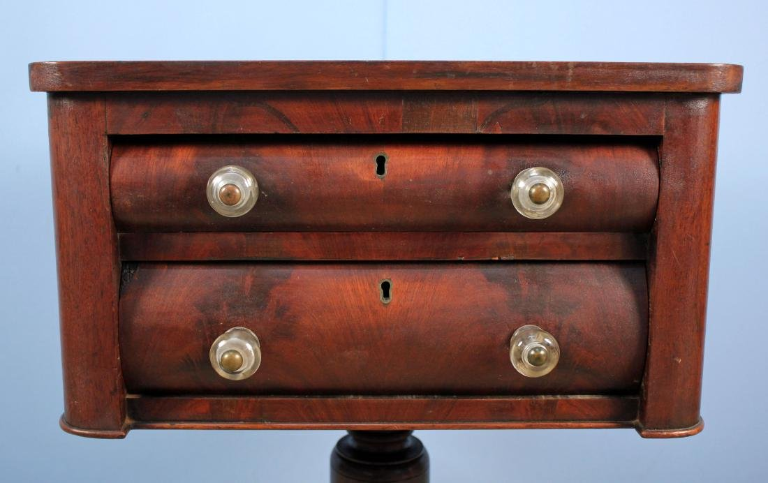 Mid 1800's Mahogany Work Table w/ Two Drawers - 2