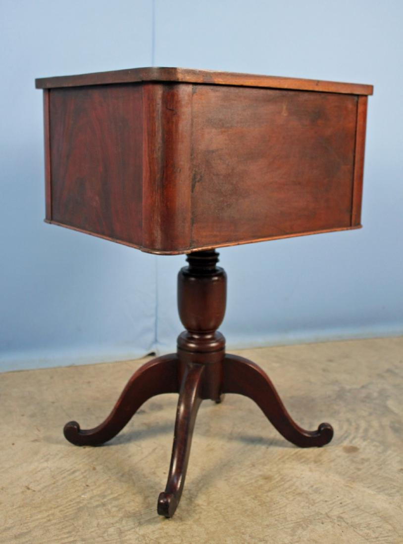 Mid 1800's Mahogany Work Table w/ Two Drawers - 4