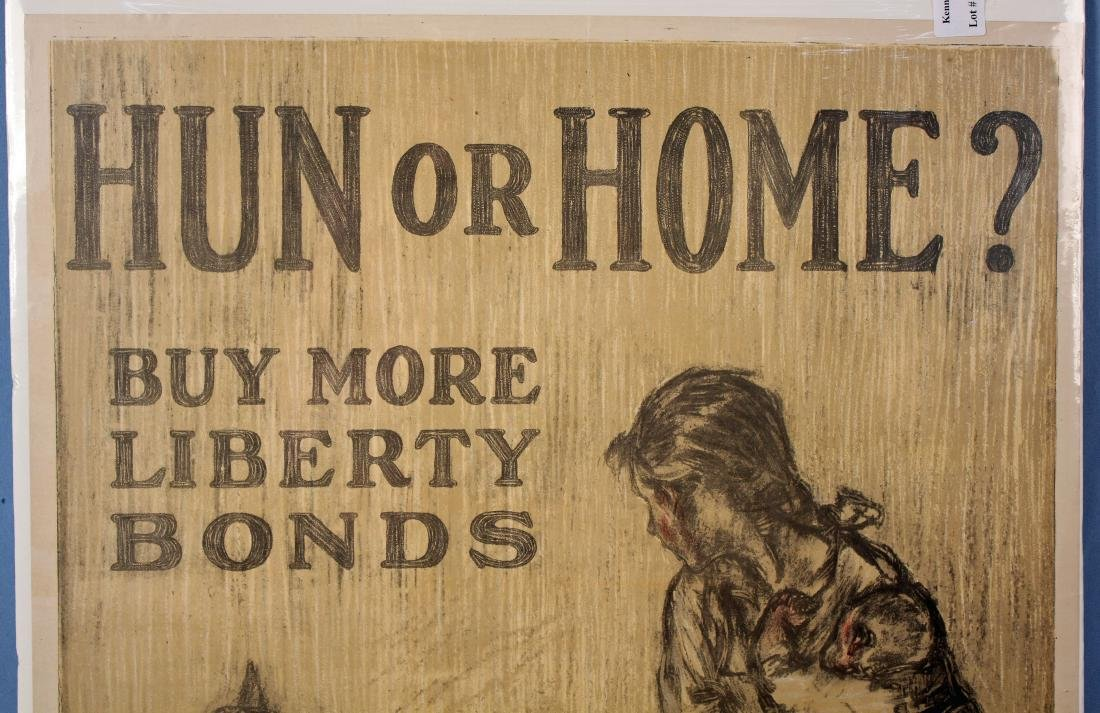 "WW I, ""Hun or Home"" Original Liberty Bonds Poster - 2"