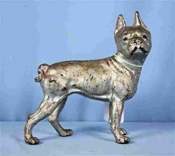 Antique Hubley Cast Iron Boston Terrier Doorstop
