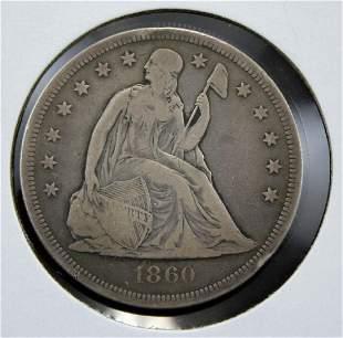 1860-O U. S. Silver Dollar