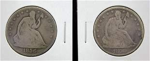 1850-O & 1856-O U.S.Silver Half Dollars