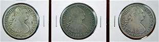 1795, 1796, 1797 Mexican Silver 8 Reales