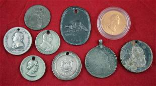 Group of 9 medals incl. Hudson Bay, Peace medals