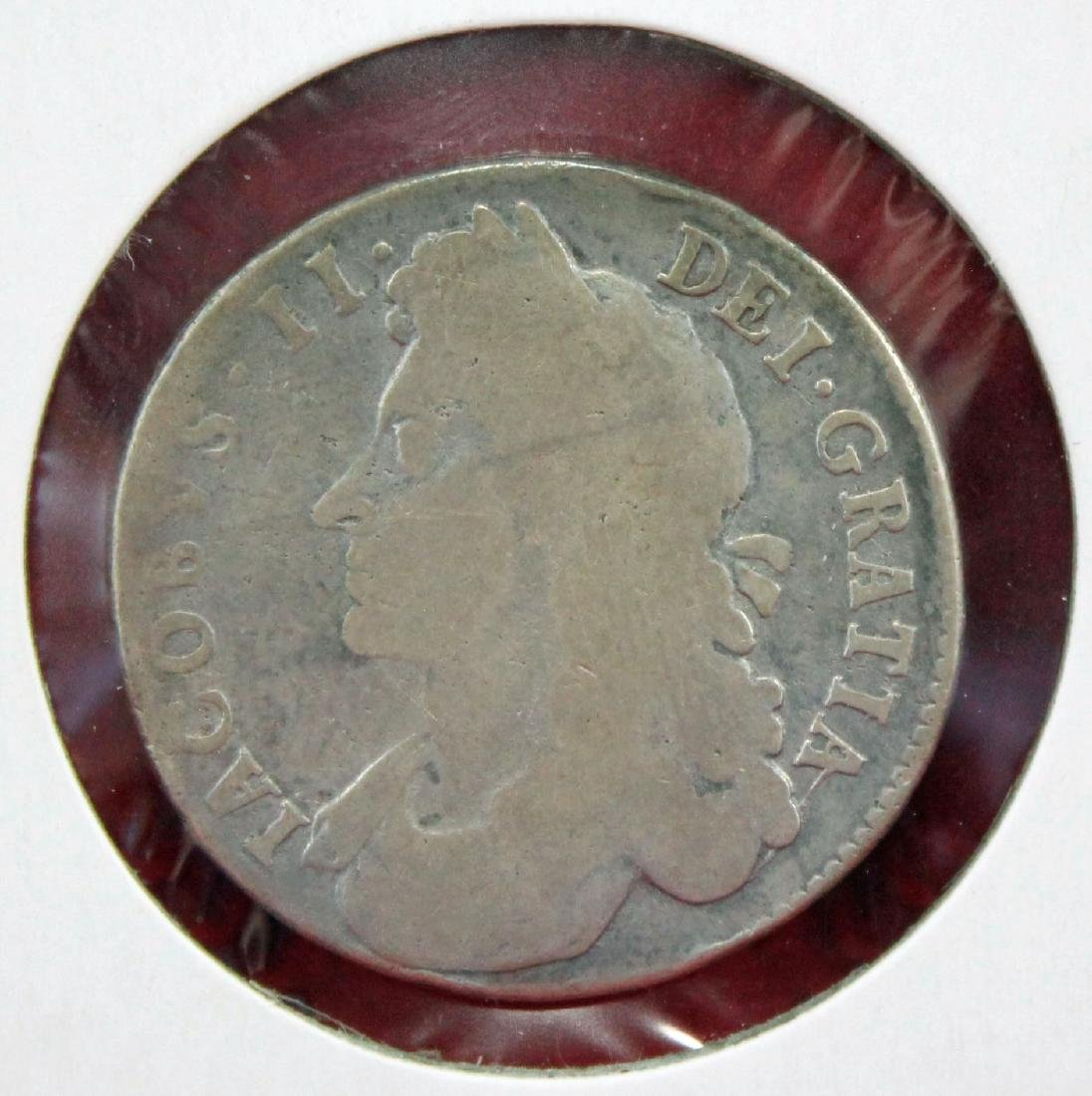 1687 Great Britain silver 1/2 Crown