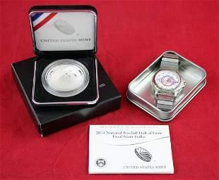 2014 Proof Baseball Hall of Fame Silver Dollar